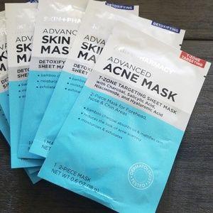 NWT SKIN+PHARMACY Bundle of 6 Acne/Skin Care Masks